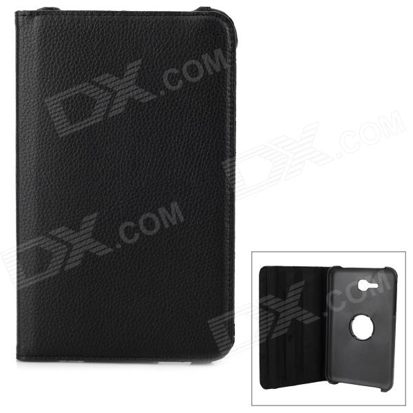 360 Degree Rotation Lichee Grain PU Leather  Case + PC Cover Stand for Samsung Tab 3 Lite 7.0 T110