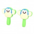 V03 Cartoon Monkey Style Silicone Cable Ties - Green + Multicolored (2 PCS)