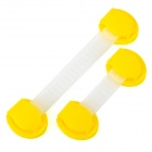 Baby Infant Child Multi-Function Rotatable Drawer Safety Locks - Yellow + Translucent White