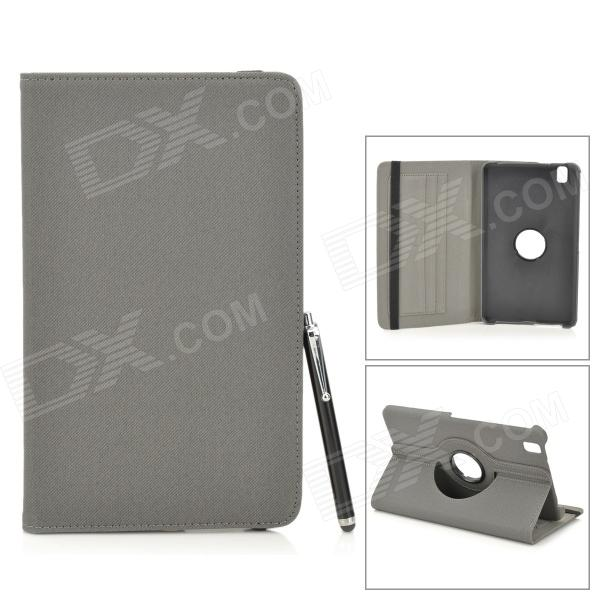 Protective PU Leather Case w/ Card Slot for Samsung Galaxy Tab Pro 8.4 T320 / 321 - Black + Grey protective pu leather case w card slot for samsung galaxy tab pro 8 4 t320 321 black grey