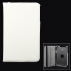 360 Degree Rotary Protective Flip Open Case w/ Stand for Asus Vivo Tab Note 8 / M80TA - White