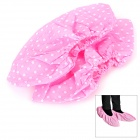 Breathable Anti-slip Dots Pattern Non-woven Fabrics Shoes Cover - Pink (2 PCS)