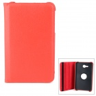 360' Rotary Lichi Pattern Pu Leather Case + PC Cover w/ Stand for Samsung Galaxy Tab 3 Lite 7.0 T110