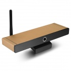 X 7 firekjerners Android 4.2 Google TV spiller med 2GB RAM, 8GB ROM, 5,0 MP kamera - Golden (EU Plug)