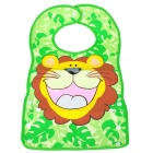 Cartoon Lion Pattern Waterproof Bib - Green + Yellow