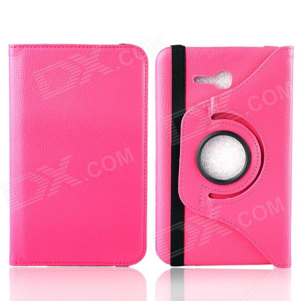 360 Degree Rotation Protective Case Cover Stand for Samsung Galaxy Tab3 Lite T110 - Deep Pink one piece 1x brand new high quality silicon protective skin case cover for xbox 360 remote controller blue green mix color