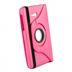 360 Degree Rotation Protective Case Cover Stand for Samsung Galaxy Tab3 Lite T110 - Deep Pink