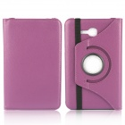 360 Degree Rotation Protective Case Cover Stand for Samsung GalaxyTab 3 Lite T110 - Purple