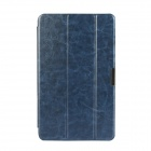 3-Fold PU Leather Cover Stand w/ Magnet function for Dell Venue 8 Pro - Deep Blue