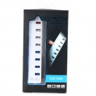 CQT-3008 4-Port USB 3.0 + 3-Port USB 2.0 Hub w/ Independent Switch / Indicator - White