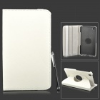 Protective Flip-open PU Leather Case w/ Stylus for Samsung Galaxy Tab Pro 8.4 T320 - White