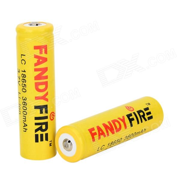 FANDYFIRE 18650 3.7V 1000mAh Rechargeable Li-ion Batteries - Yellow + Multicolored (2 PCS) goop cr2025 3v lithium cell button batteries 5 x 10 pcs