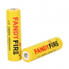 FANDYFIRE 18650 3.7V 1000mAh Rechargeable Li-ion Batteries - Yellow + Multicolored (2 PCS)