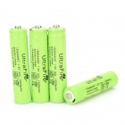 UltraFire AAA 1.2V 800mAh Rechargeable Ni-MH Batteries - Green + Black (4 PCS)