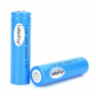 LetterFire 3.7V 1800mAh Rechargeable 18650 Li-ion Batteries - Blue (2 PCS)