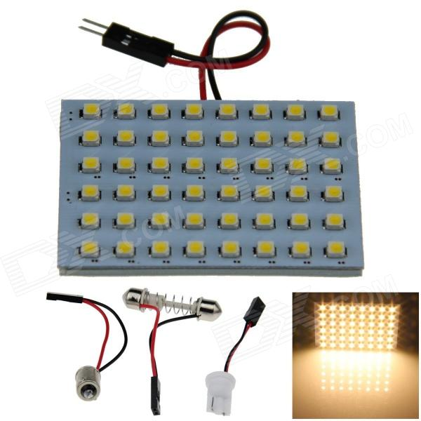 T10 / BA9S / Festoon 4W 300lm 48-SMD 1210 LED Warm White Car Light Reading / Panel de luz (12V)