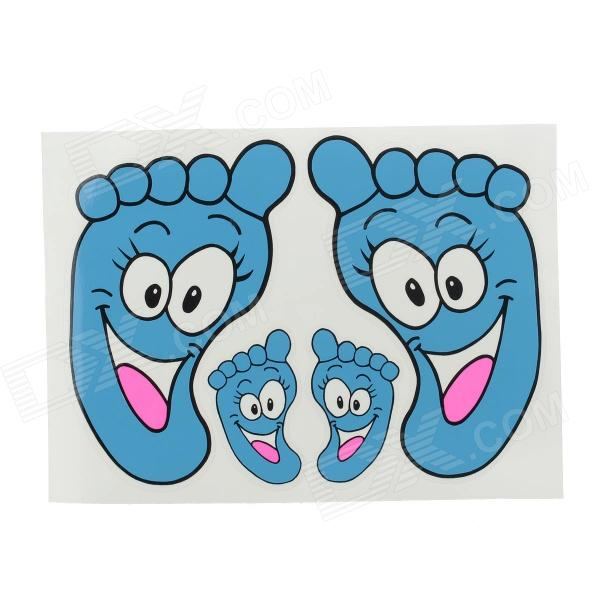 Foot Print Style Decoration Sticker for  Car - Blue + White + Pink - DXCar Stickers<br>Easy to stick and peel will not hurt your car; Personalizes decorates your car.<br>