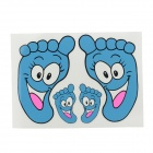 Foot Print Style Decoration Sticker for  Car - Blue + White + Pink