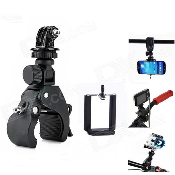 3-In-1 Quick Installation Bicycle Tripod Mount for Camera / Cell Phone / GoPro Hero 4/2/3/3+ / SJ4000 wrist band mount strap for gopro hero3 sj4000 camera