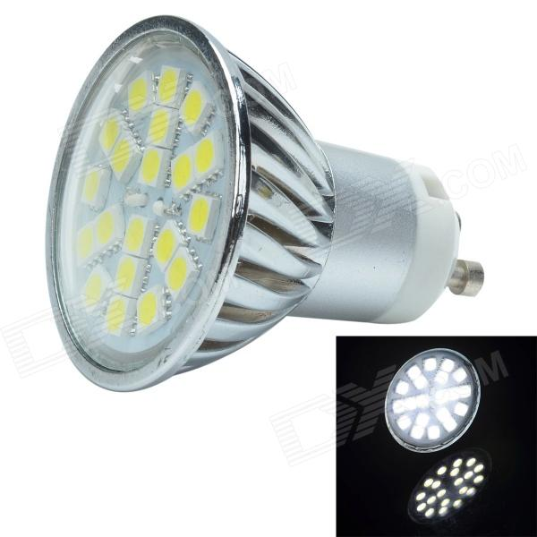 gu10 3w 280lm 6000k 20 x smd 5050 led white light lamp yellow silver 12v free shipping. Black Bedroom Furniture Sets. Home Design Ideas