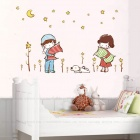 Art of Good Night Removable Wall Sticker - Multicolored