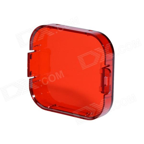 Professional Diving Housing Filter for GoPro Hero 3 - Red