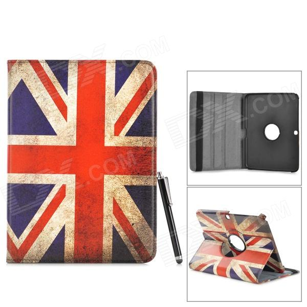 UK Flag Pattern PU Case w/ Holder + Stylus + Data Cable + Screen Guard for Samsung P5200 suck uk