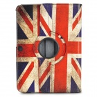UK Flag Pattern PU Case w/ Holder + Stylus + Data Cable + Screen Guard for Samsung P5200
