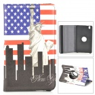 USA National Flag + Statue of Liberty Pattern PU Leather Case for Samsung Galaxy Tab Pro 8.4 T320