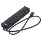 4-USB 3.0 Port + 3-USB 2.0 Port Hub + 1-USB Charging Port w/ Switch Control - Black