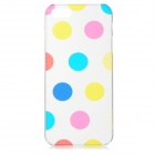 Polka Dot Style Protective Plastic Back Case for IPHONE 5 / 5S - Blue + Pink