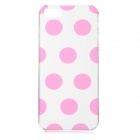 Polka Dot Protective Plastic Back Case for IPHONE 5 / 5S - Pink + Transparent
