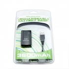 Portable Rechargeable 3600mAh Battery with USB Charging Cable for Xbox 360 Controller - Black