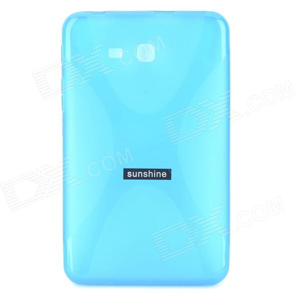 sunshine ''X'' Shaped TPU Back Case + Screen Protector for Samsung Galaxy Tab 3 Lite T110 / T111