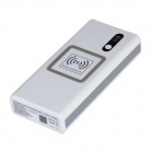 KP120A Multi-Function 12000mAh Emergency Vehicle Power Supply Qi Wireless Charger - White + Silver