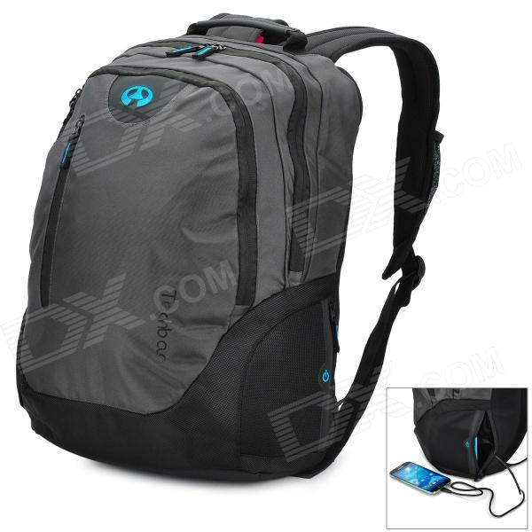 Techbag T1011 High Quality Waterproof Computer Bag w/ Flashlight / 5200mAh Power Bank for Tablet PC