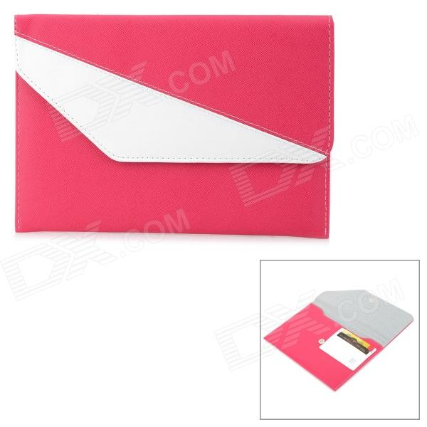 A1011 Universal 7 Protective PU Leather Case for Tablet PC - Deep Pink + White protective pu leather case for 9 7 tablet pc deep pink