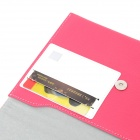 "A1011 Universal 7"" Protective PU Leather Case for Tablet PC - Deep Pink + White"