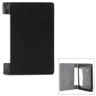 H-2 Protective PU Flip Open Case for 8'' Lenovo Tablet B600 - Black + Grey