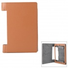 H-2 Protective PU Flip Open Case for 8'' Lenovo Tablet B600 - Brown + Dark Grey