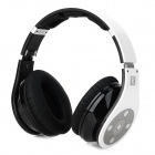 Bluedio R+ Folding Bluetooth V4.0 Stereo Headset w/ TF Card Slot - White + Black + Multicolored