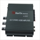 A-200 Hi-Fi Stereo Audio Amplifier w/ FM / SD / USB for Car / Motorcycle - Black
