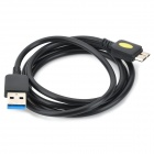 IKKI USB 3.0 Male to Micro 9-Pin Male Data Charging Cable for Samsung P900 - Black (100cm)