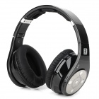 Bluedio R+ Folding Bluetooth V4.0 Stereo Headset w/ TF Card Slot + MIC - Black + Off-White