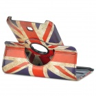 UK Flag Pattern PU Case w/ Screen Protectors + Stylus Pen for Samsung Galaxy Tab 3 P3200 - Red