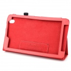 Protective Flip-open PU Case w/ Holder + Stylus Pen for Samsung Galaxy Tab Pro 8.4 T320 - Red