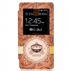 "Diamond-studded PU Leather Case w/ ""INVITATION"" for Samsung Galaxy Note 3 - Brown+ Yellow"