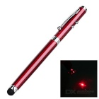 Multi-functional Detachable Capacitive Stylus + Handwriting Ball-point Pen + Laser Pen - Claret Red