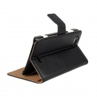 Stylish Flip-open PU Leather Case w/ Card Slot for Sony Xperia L / S36H - Black