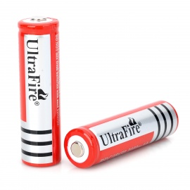 Ultrafire 18650 3.7V 1200mAh Rechargeable Li-ion Batteries for Flashlight - Red + Silver (2 PCS)